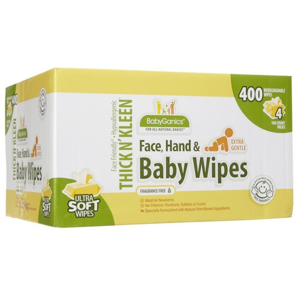 BabyGanics Thick N' Kleen 400-count Baby Wipes