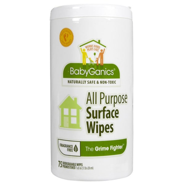 BabyGanics The Grime Fighter 75-count All-purpose Wipes