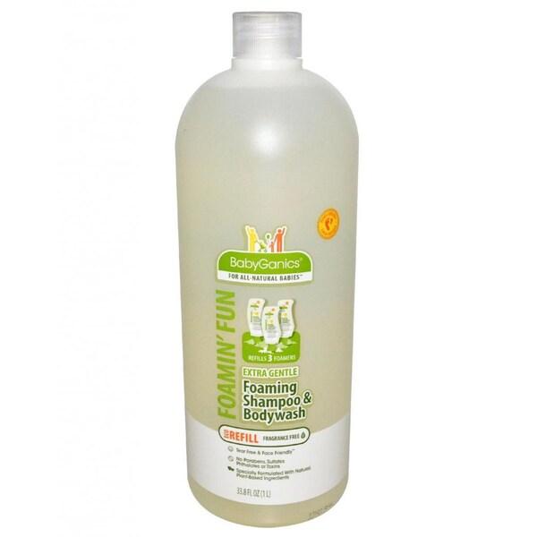 BabyGanics Foamin' Fun Foaming Shampoo and Body Wash Refill