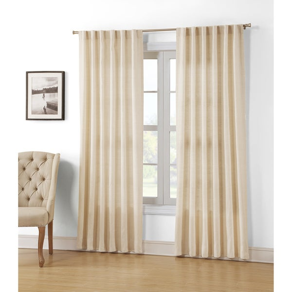 Hampshire Station Natural Linen 88-inch Luxury Curtain Panel