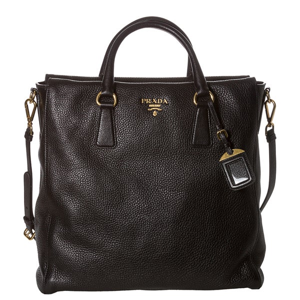 ... low cost prada x27vitello dainox27 black leather north south tote 636d2  891f8 db7950aaa1748