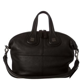Givenchy 'Nightingale' Small Black Leather Satchel