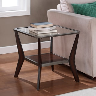 Boomerang Espresso/ Antique Silver End Table