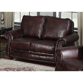Steven Brown Bonded Leather Loveseat