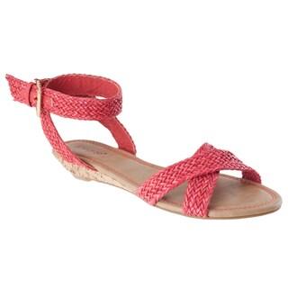 Riverberry Women's 'Dalinda-15' Coral Woven Sandals