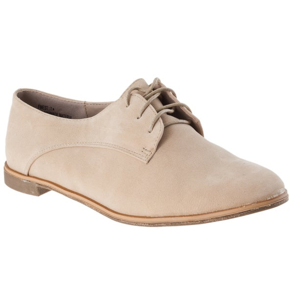 Riverberry Women's 'Finest' Natural Microsuede Oxfords