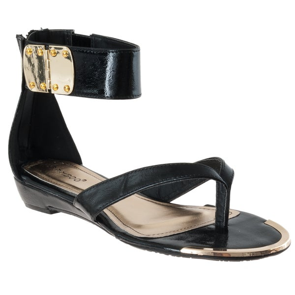 Riverberry Women's 'Lottie' Black Ankle Strap Sandals