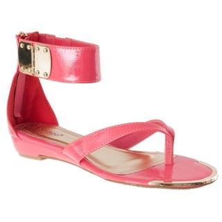 Riverberry Women's 'Lottie' Coral Ankle Strap Sandals