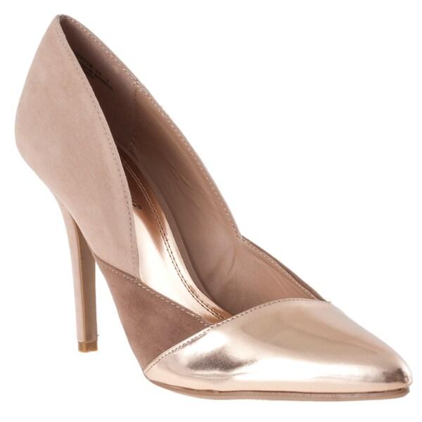 Riverberry Women's 'Momentum' Rose Gold Metallic Pointed-toe Stilettos