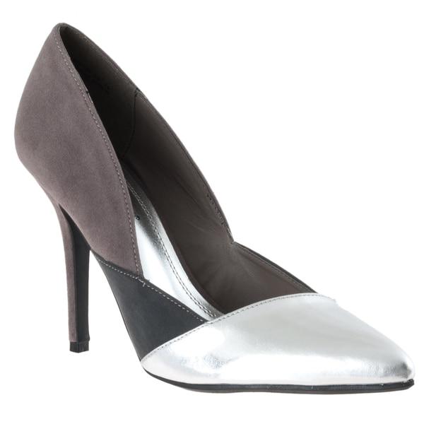 Riverberry Women's 'Momentum' Silver Pointed-toe Stilettos
