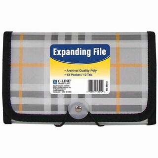 C-Line 13-pocket Plaid Coupon Expanding File