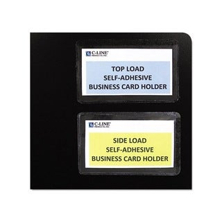C-Line Self-adhesive Top-load Clear Business Card Holders (Pack of 10)