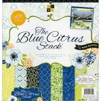 "Blue Citrus Paper Stack 12""X12"" 48/Sheets-24 Designs/2ea"