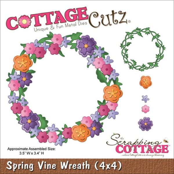 """CottageCutz Die 4""""X4""""-Spring Vine Wreath"""