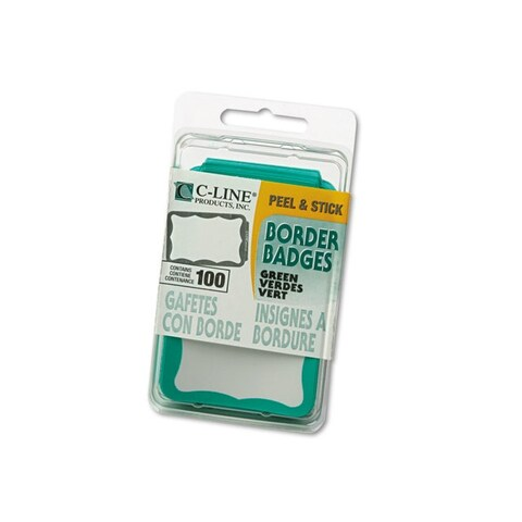 C-Line Green Self-adhesive Name Badges (Case of 100)