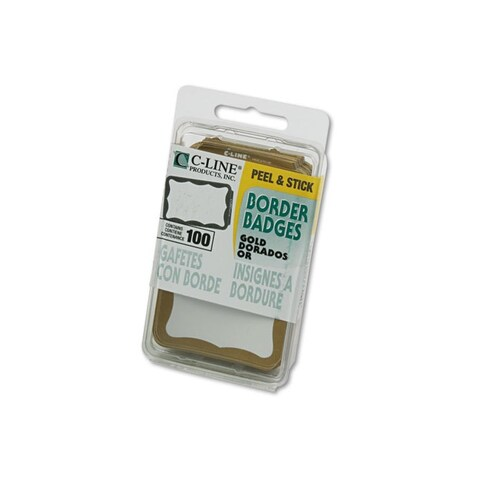 C-Line Gold Self-adhesive Name Badges (Case of 100)