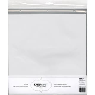 """D-Ring Album Page Protectors 12""""X12"""" 10/Pkg-Top-Loading With White Inserts"""