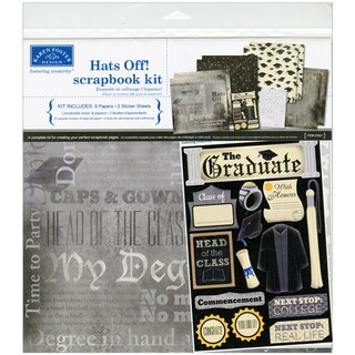 "Hats Off! Graduation Scrapbook Page Kit 12""X12""-"