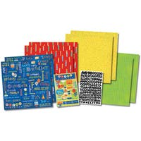 """Party Time Birthday Scrapbook Page Kit 12""""X12""""-"""