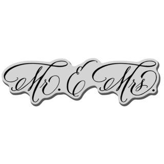 Stampendous Cling Rubber Stamp-Married Monograms