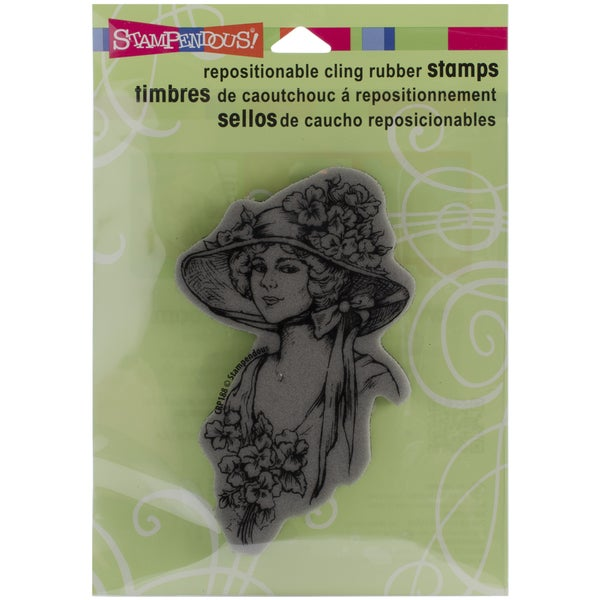 Stampendous Cling Rubber Stamp-Garden Gal