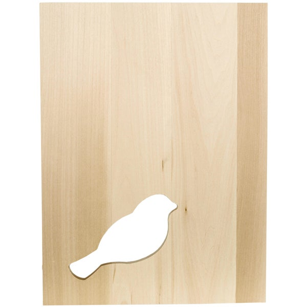 "Thin Panel Basswood 12""X9""X0.38""-Silhouette Bird"