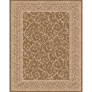 Woven Indoor/ Outdoor Patio Rug Meadow Light Brown/ Beige Rug (7'9 x 10')