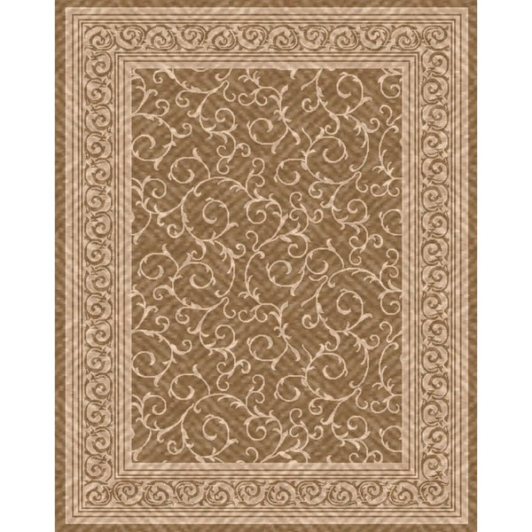 Woven indoor outdoor patio rug meadow light brown beige for Woven vinyl outdoor rugs