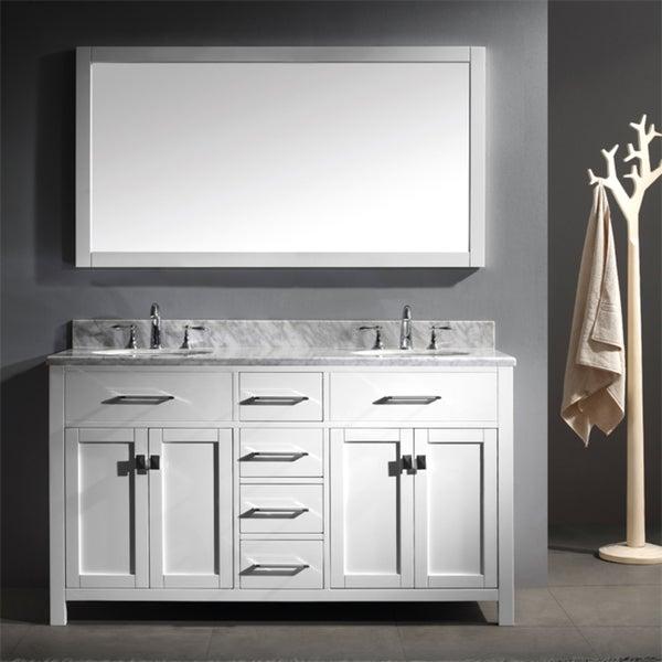 shop caroline 60 inch double sink bathroom vanity set free shipping today ForCaroline 60 Inch Double Sink Bathroom Vanity Set