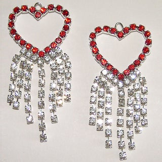 Detti Originals Valentine Crystal Heart Earrings
