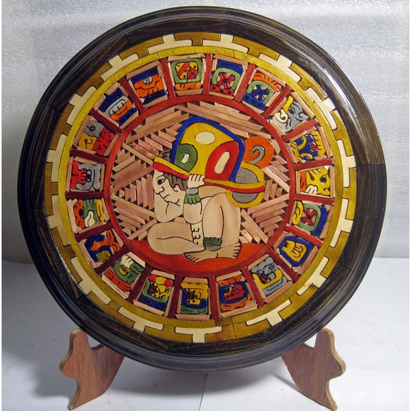 Shop Handcrafted Wood Maya Calendar Mexico Free Shipping Today
