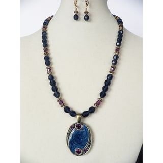 'Blue Lagoon' Necklace and Earring Set