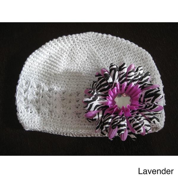 Bobitty Boo Crochet Zoe Hat in Lavander or Blue