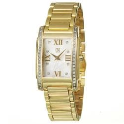 ESQ by Movado Women's 'Kingston' Yellow Goldplated Stainless Steel Quartz Diamond Watch
