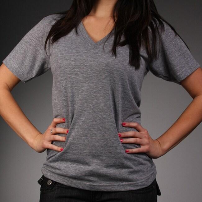 Laguna Beach Jean Co. Womens Eco Grey V-neck Top