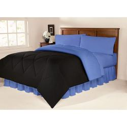 Black/ Blue 10-piece Twin XL-size Dorm Room in a Box
