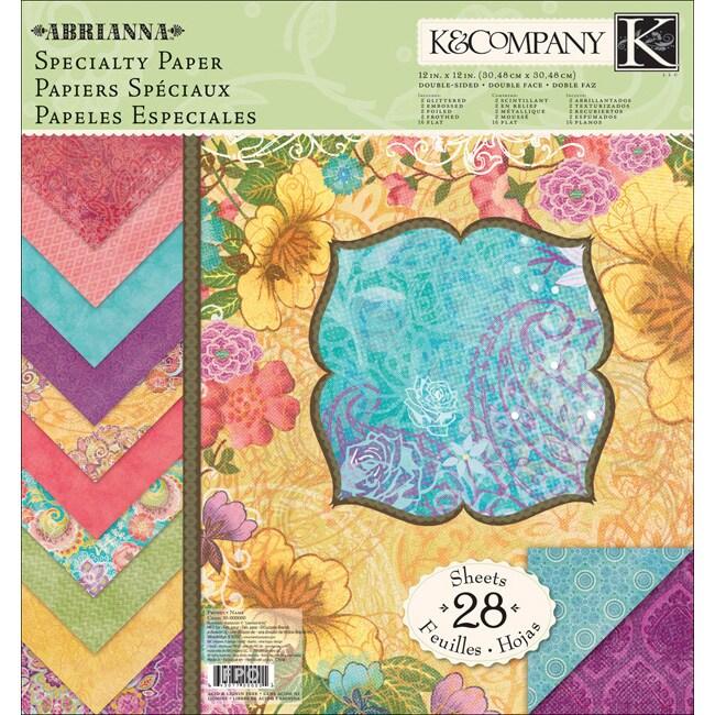 K & Company 'Abrianna' Specialty Paper Pad