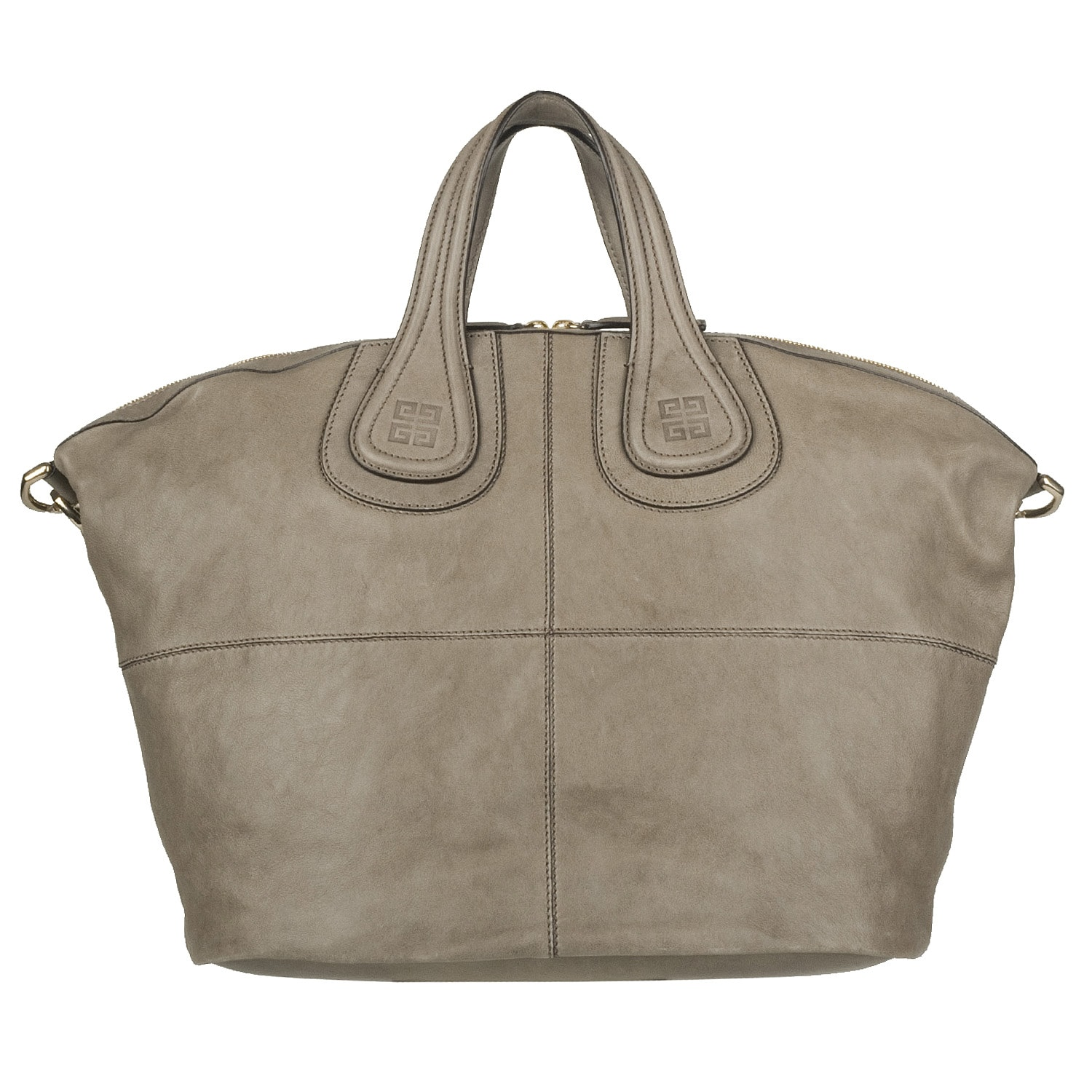 835cd96d8a26 Shop Givenchy Medium Nightingale Taupe Leather Tote Bag - Free Shipping  Today - Overstock.com - 6131078