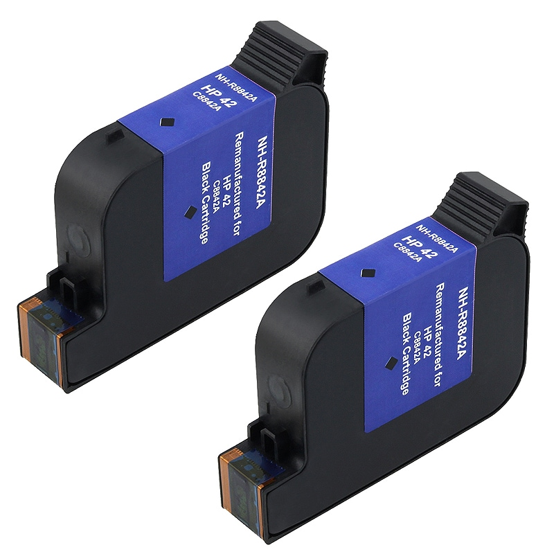 2-piece HP C8842A Black Versatile Ink for Pitney Bowes (Remanufactured)