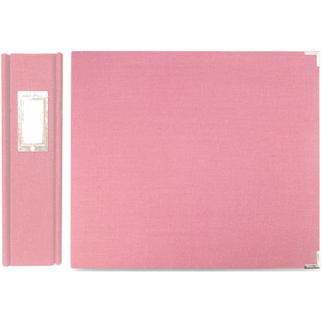 We R Memory Keepers Linen 12x12-inch Bubble Gum Postbound Album