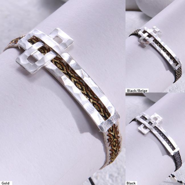 Sterling Silver Cross Bracelet (Colombia)