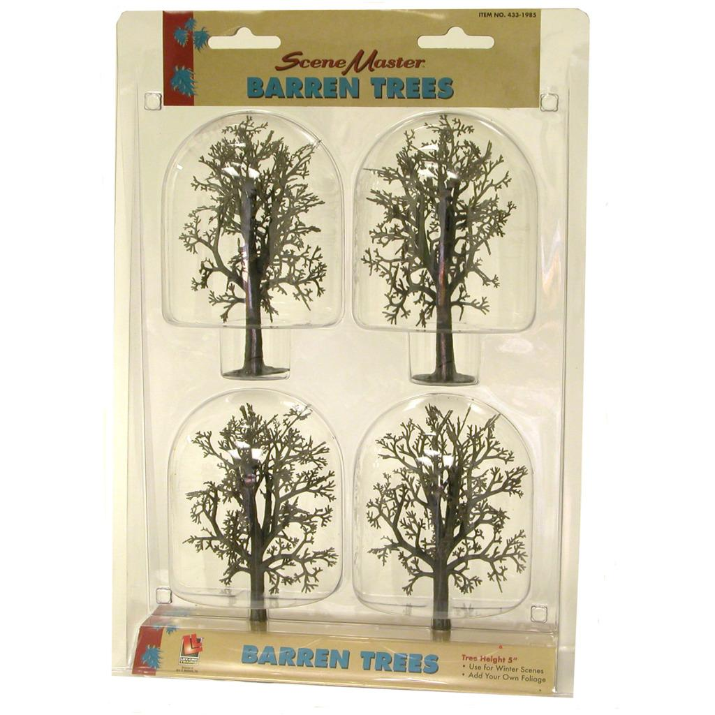 HO Scale 5-inch Barren Trees (Pack of 4)