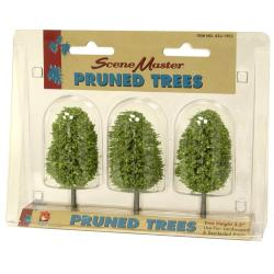 HO Scale 3.5-inch Pruned Trees (Pack of 3) - Thumbnail 0