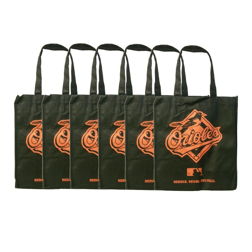 Baltimore Orioles Reusable Bags (Pack of 6)