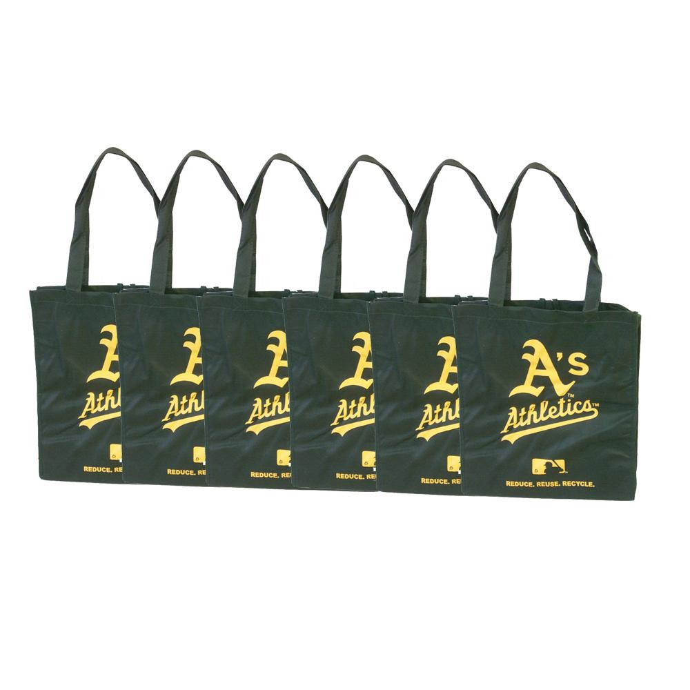 Oakland Athletics Reusable Bags (Pack of 6)