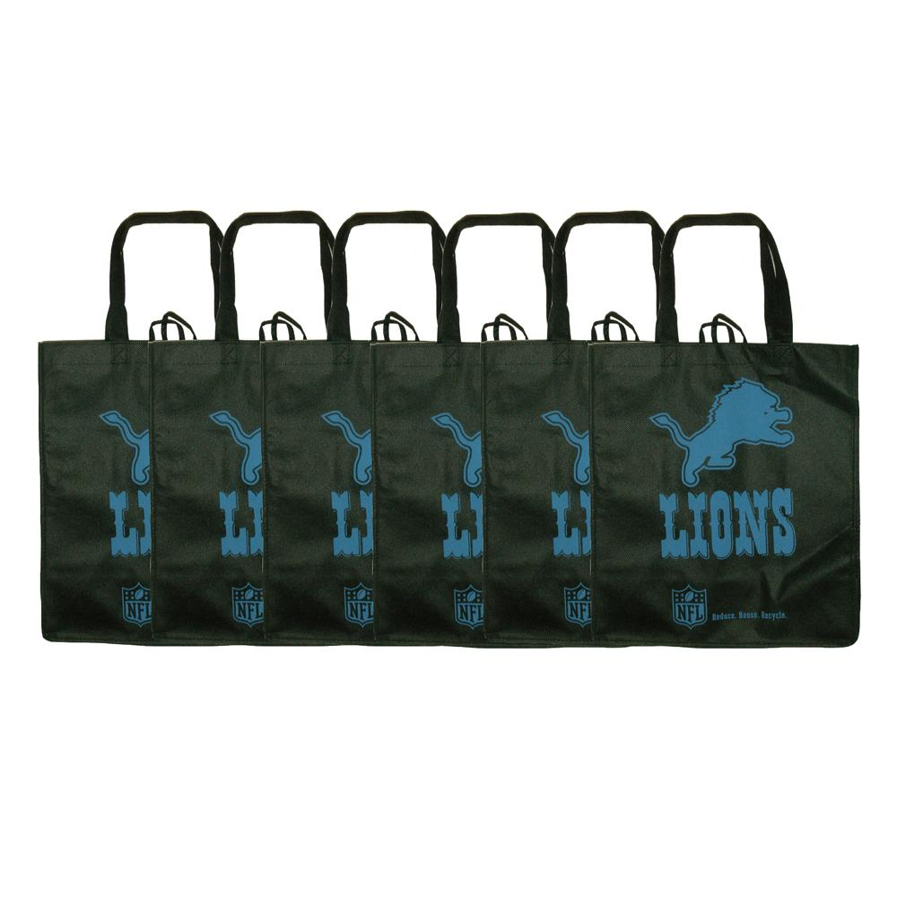 Detroit Lions Reusable Bags (Pack of 6) - Thumbnail 0