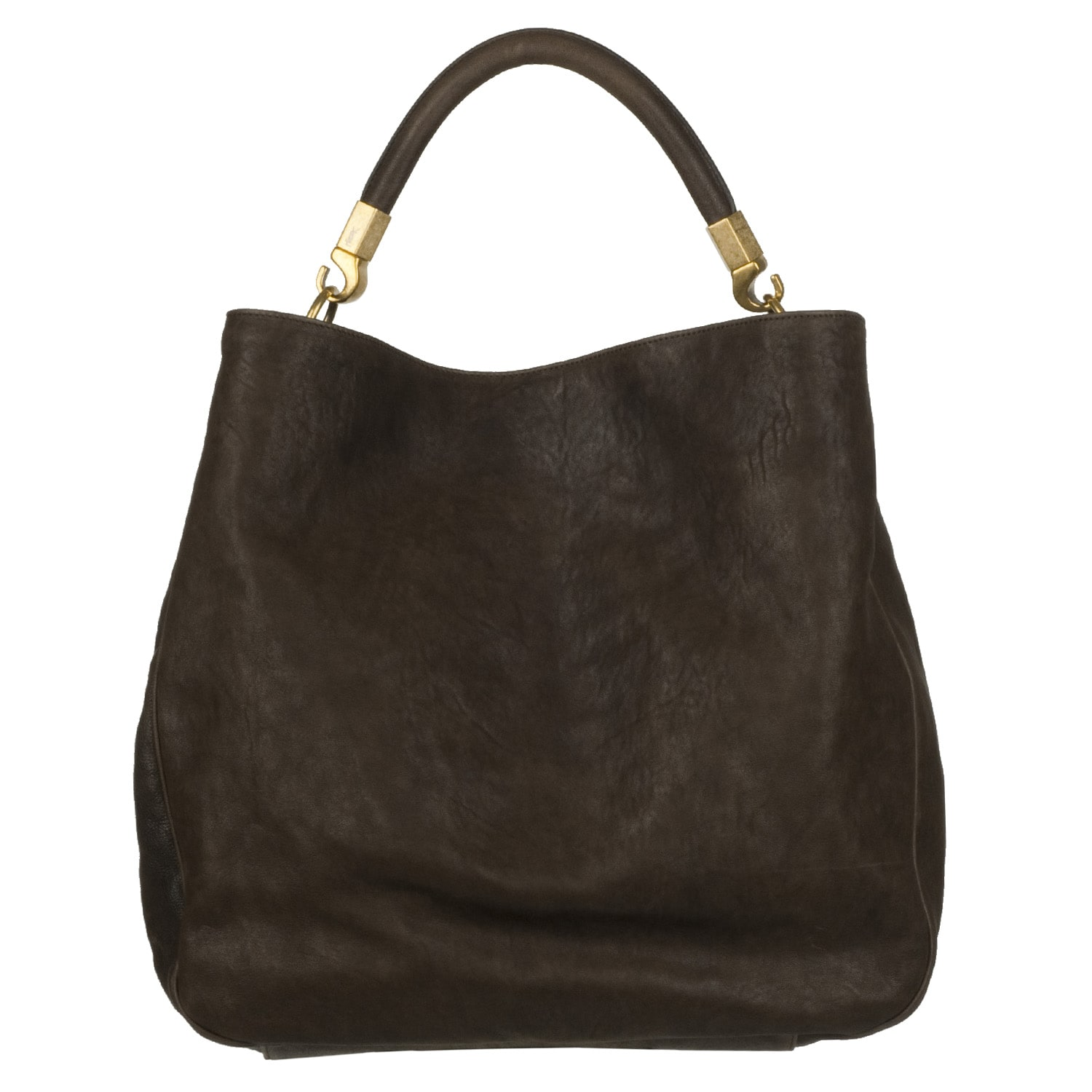 Yves Saint Laurent 'Roady Ranch' Brown Leather Hobo Bag