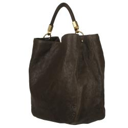 Yves Saint Laurent 'Roady Ranch' Brown Leather Hobo Bag - Thumbnail 1