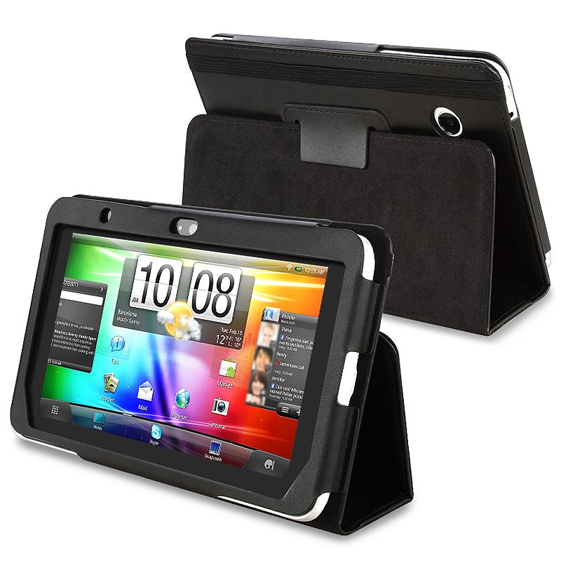 Black Leather Case for HTC Flyer