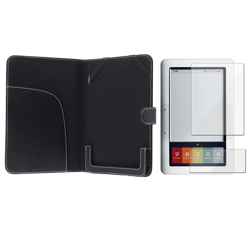 Leather Case/ Screen Protector for Barnes & Noble Nook